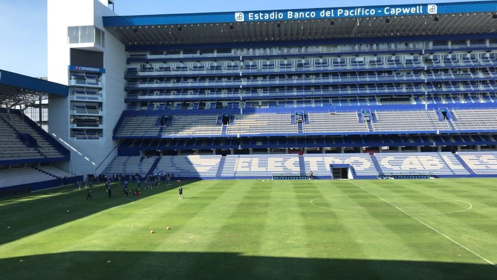 O estádio do Emelec (Foto: Eduardo Moura/GloboEsporte.com)