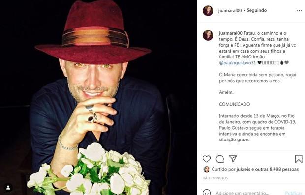 Ju Amaral posta com fé sobre Paulo Gustavo (Foto: Reprodução / Instagram)