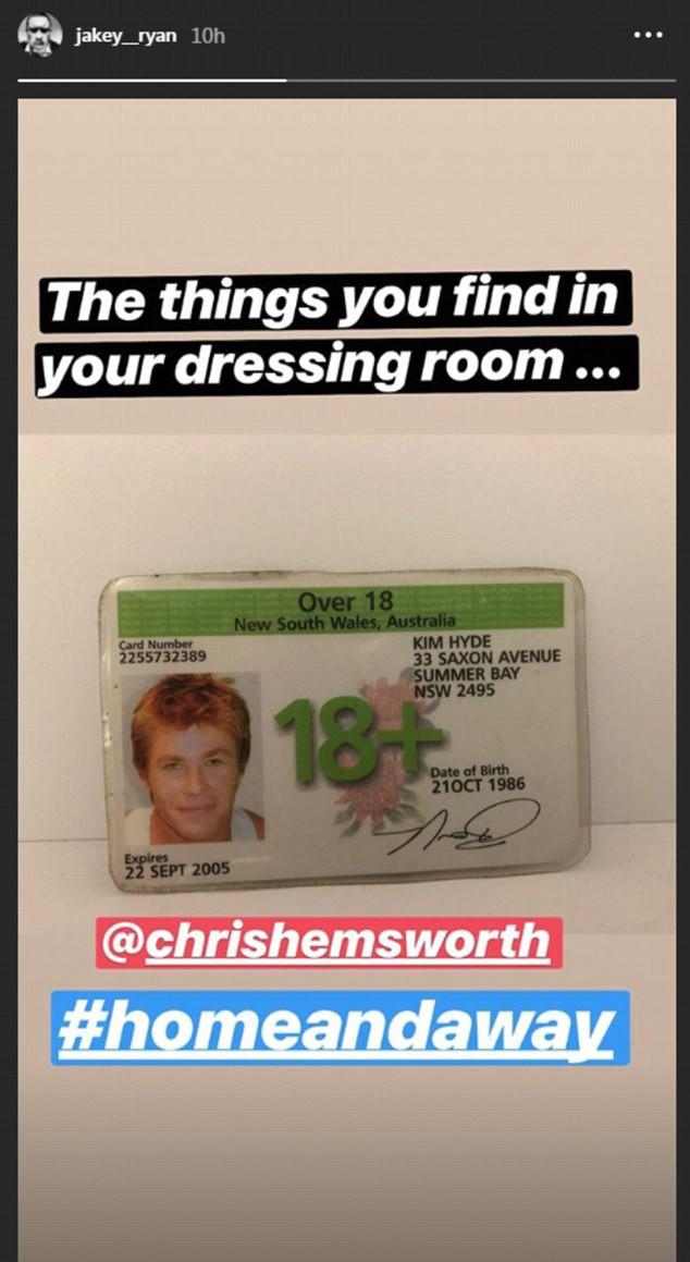 Chris Hemsworth em 'Home and Away' (Foto: Instagram)