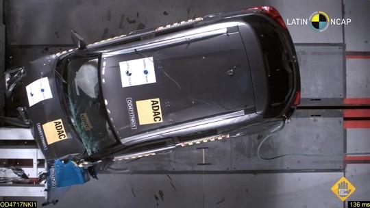 Nissan Kicks leva 4 estrelas em teste de colisão do Latin NCap