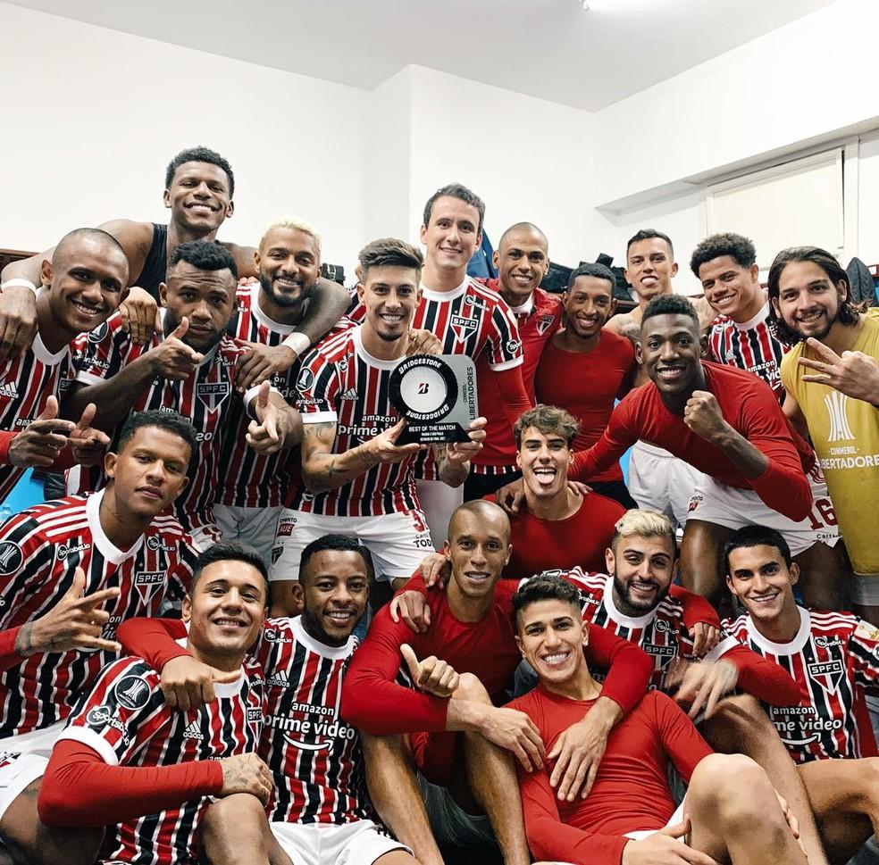 Rigoni foi eleito o melhor em campo na vitória do São Paulo — Foto: São Paulo