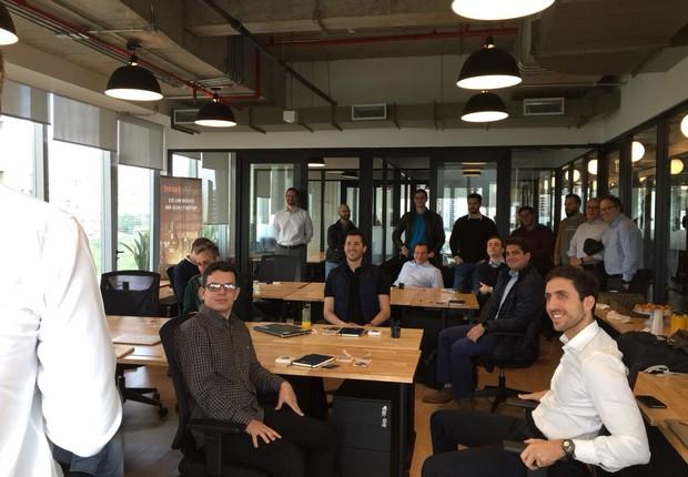 Empreendedores assistem a apresentação no primeiro encontro do ciclo de mentoria do boostLAB, do BTG Pactual (Foto: Divulgação/BTG Pactual)