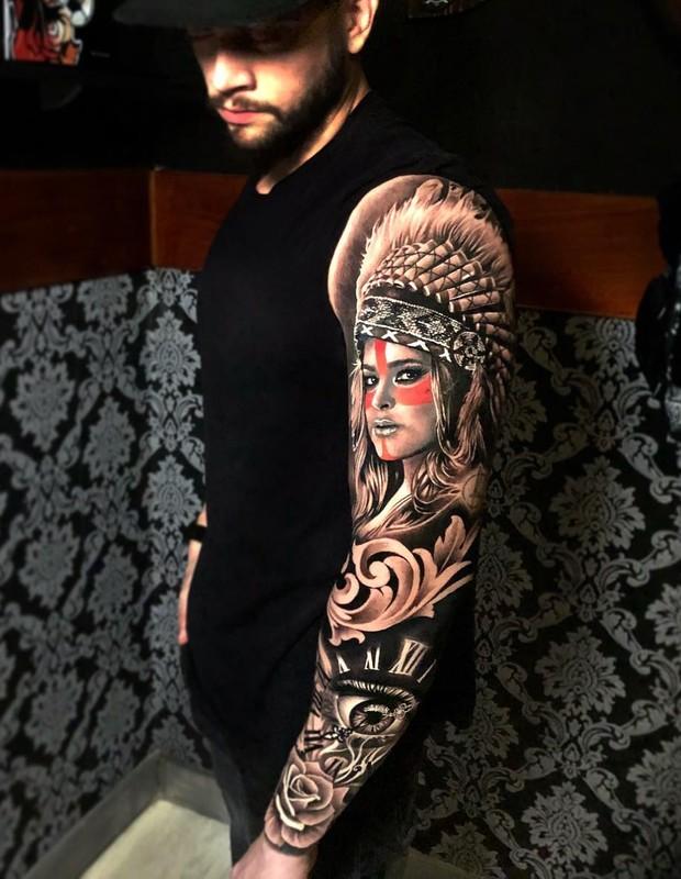 Rodrigo Godoy tatuou Preta Gil no braço (Foto: Reprodução/Instagram)