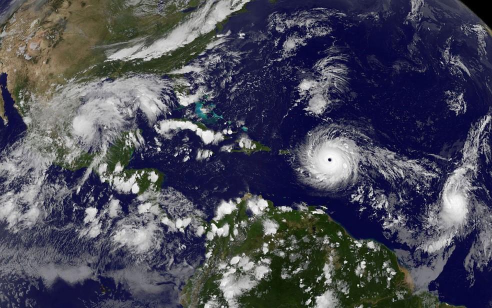 Segundo a Nasa, o furacão Irma é o maior da última década; especialistas dizem que, no Brasil, fenômeno similar é quase impossível (Foto: NASA/Handout via Reuters)