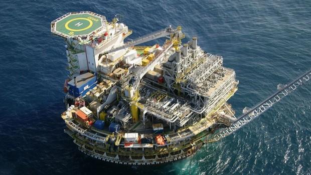 Plataforma de produção de petróleo ; ANP ;  (Foto: Divulgação)