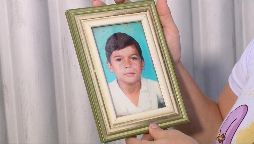 Elber Mendes morreu aos 10 anos em um acidente de trânsito — Foto: Reprodução/TV Clube