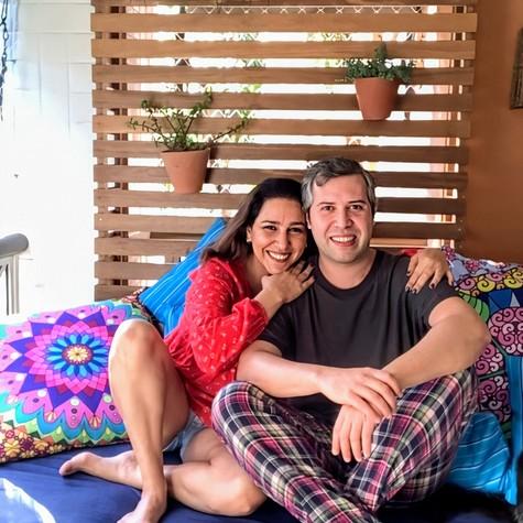 Renata Castro Barbosa e Léo Castro, do 'Zorra' (Foto: João Miguel Júnior/TV Globo)