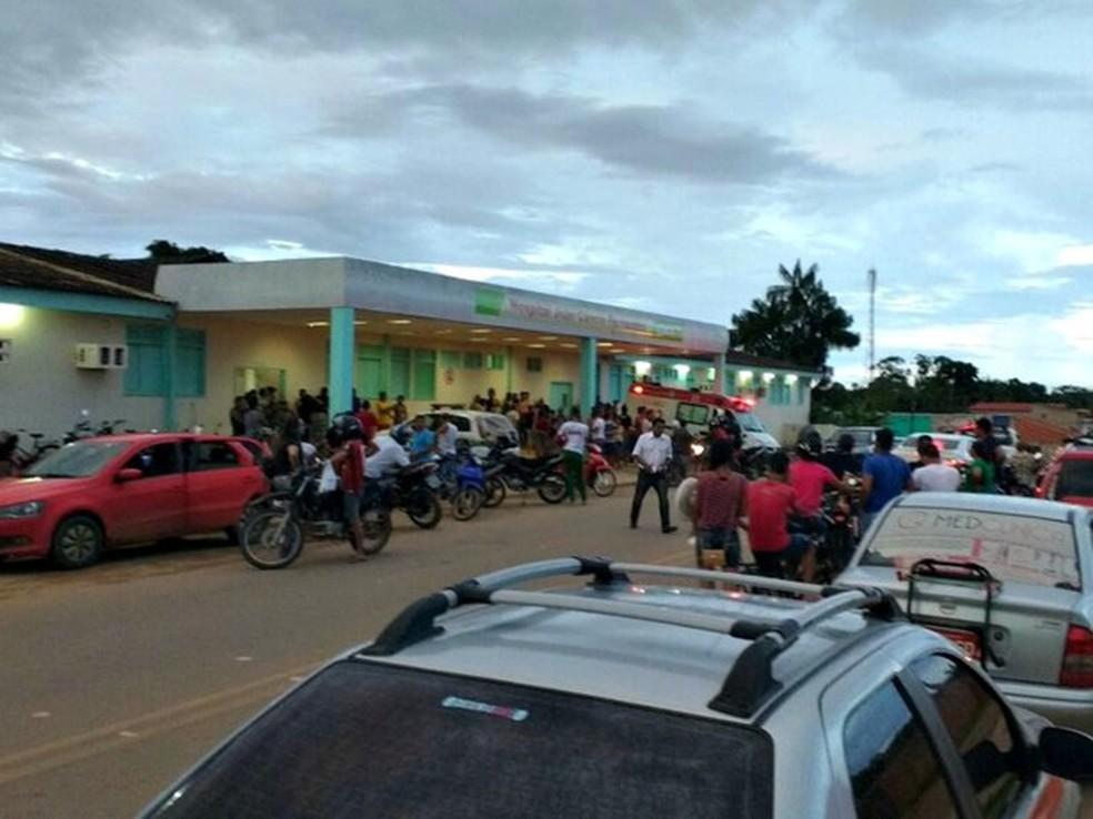 Vítima ainda foi levada ao hospital de Sena Madureira — Foto: Aldejane Pinto/Arquivo pessoal