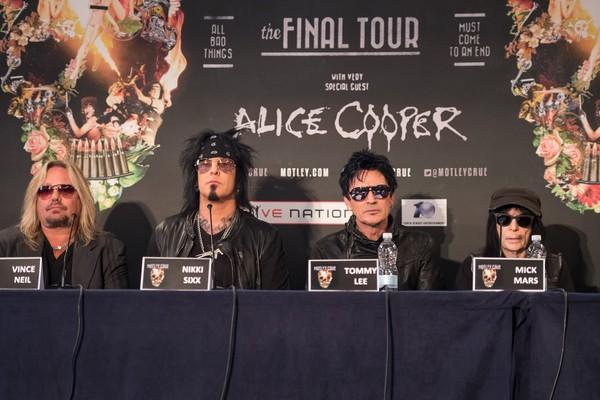 Os integrantes do Mötley Crüe. A banda fez sua última apresentação em dezembro de 2015 (Foto: Getty Images)