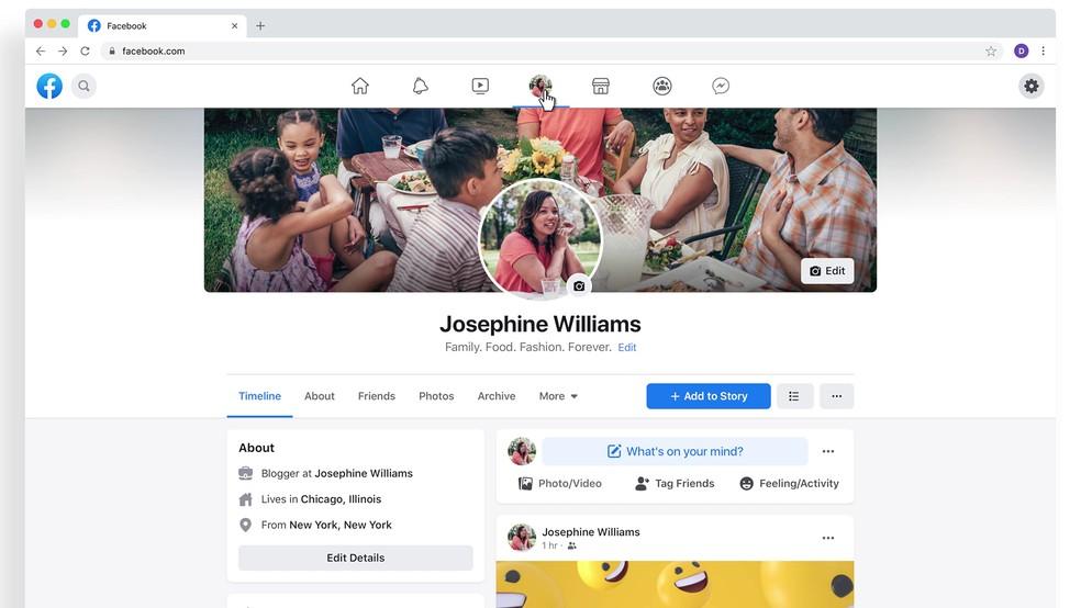 Novo design do Facebook traz visual branco e promete modo escuro no desktop — Foto: Divulgação/Facebook