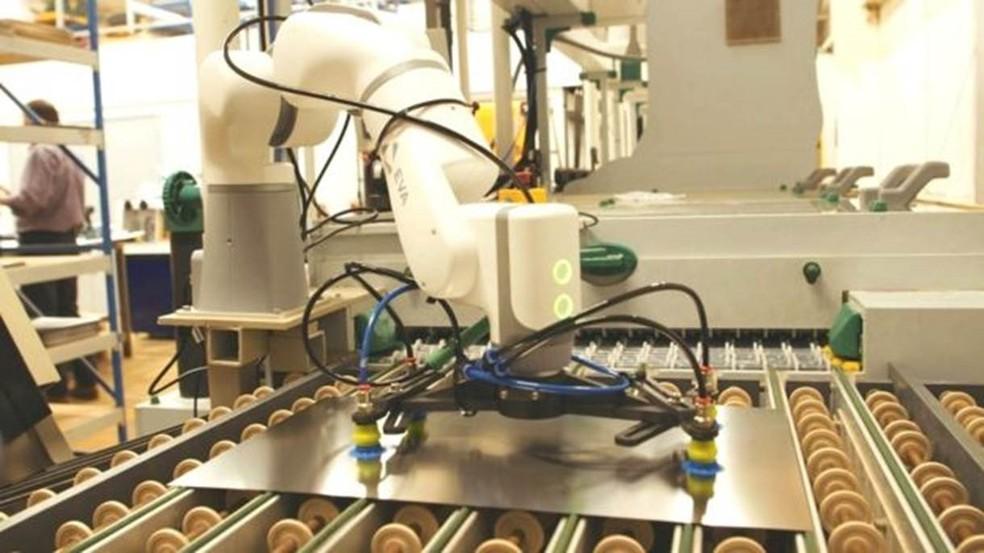 Robô EVA em funcionamento — Foto: Automata