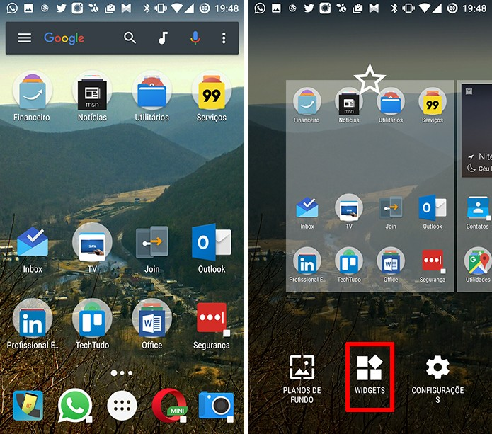 Google Drive para Android pode ter atalhos adicionados na tela inicial (Foto: Reprodução/Elson de Souza)