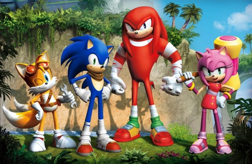 """Versão animada traz uma versão mais """"estilosa"""" de Sonic — Foto: (créditos - SEGA / Divulgação)"""