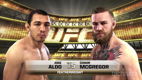 Confira a simulação da luta entre Aldo e McGregor em EA Sports UFC