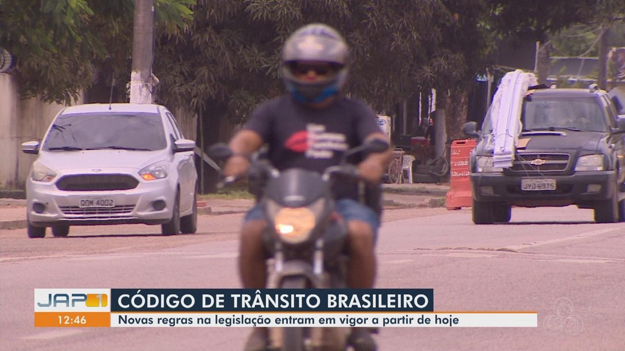 Passam a valer nesta segunda-feira (12) as novas regras do Código de Trânsito Brasileiro
