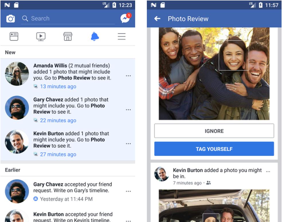 Usuários do Facebook recebem notificação quando forem identificados em fotos (Foto: Reprodução/Facebook)