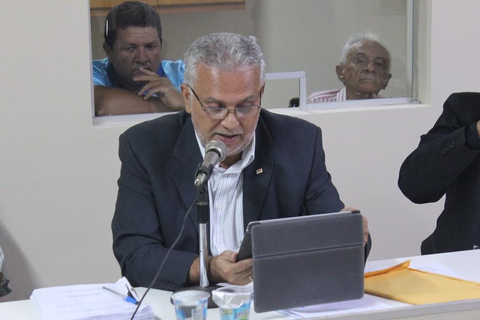 Julgamento do Caso Garcês: Miguel Bezerra (Foto: Wenner Tito/GloboEsporte.com)