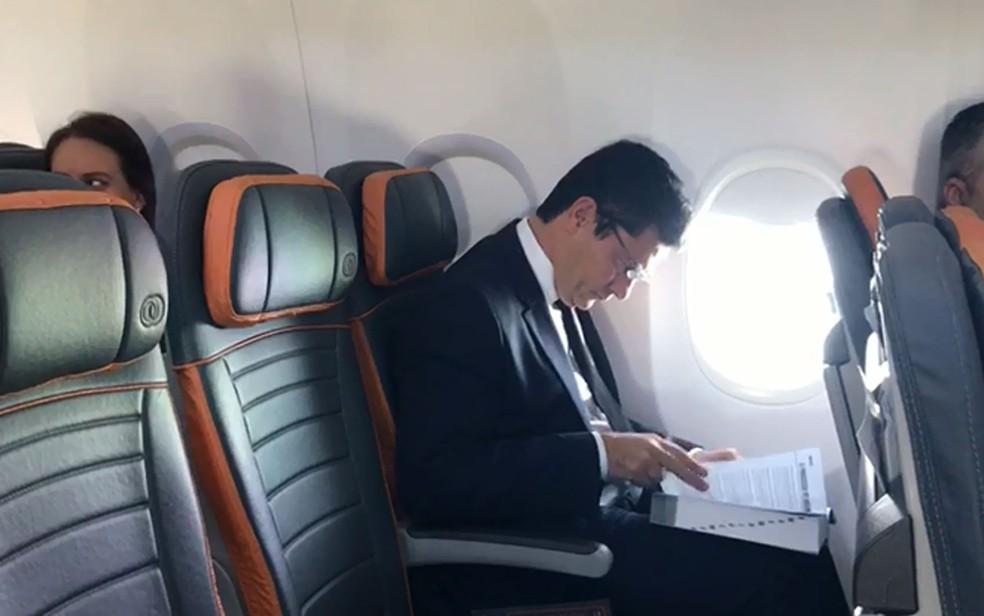 Moro viaja para o Rio para reunião com Jair Bolsonaro — Foto: Reprodução / TV Globo