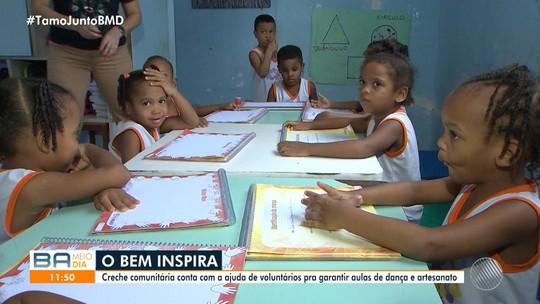 'O Bem Inspira': creche comunitária conta com ajuda de voluntários para garantir serviços