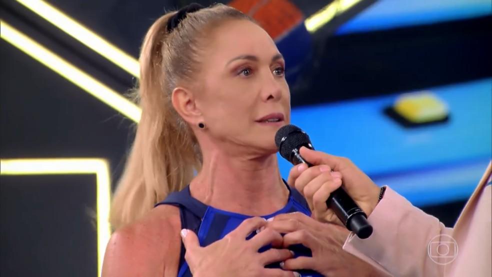 Hortência fala sobre carreira e boa forma, no 'Tá Brincando' — Foto: TV Globo