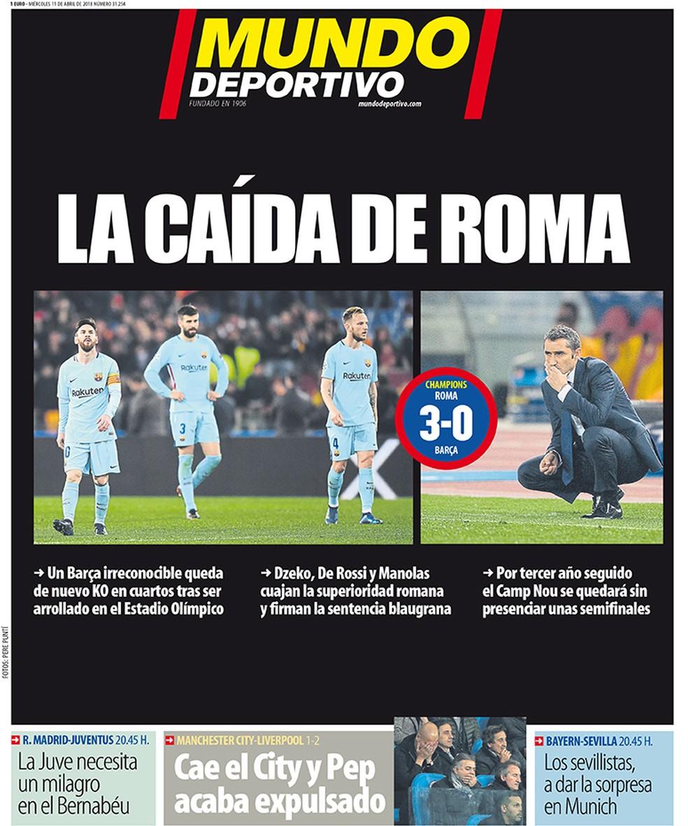 Mundo Deportivo capa eliminação Barcelona (Foto: Reprodução)
