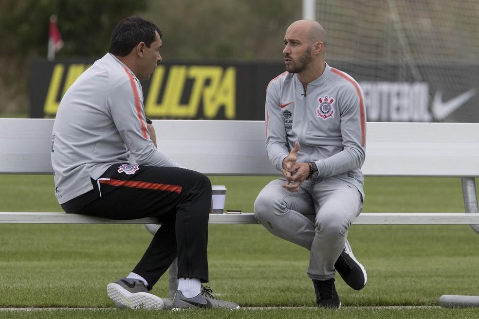 Fábio Carille ainda espera que Alessandro e a diretoria tragam reforços (Foto: Daniel Augusto Jr/Ag. Corinthians)