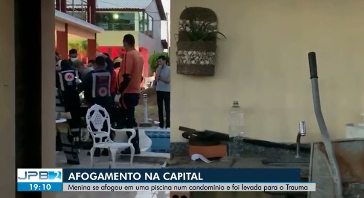 Criança de 2 anos se afoga em piscina e é socorrida para hospital, em João Pessoa