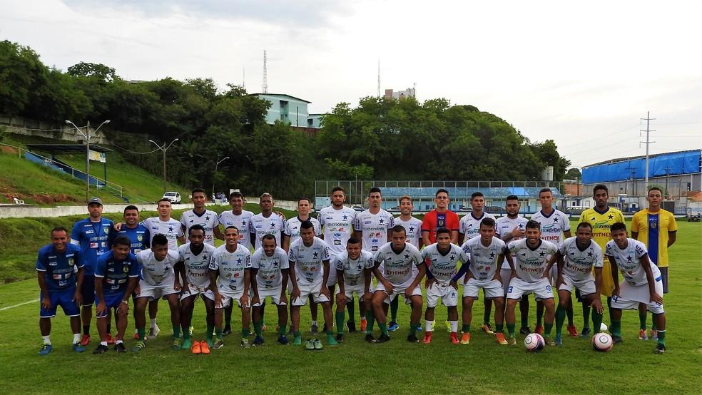 Clube apresentou elenco que vai disputar estadual, Série D e Copa do Brasil (Foto: Lorena Furtado/Nacional)