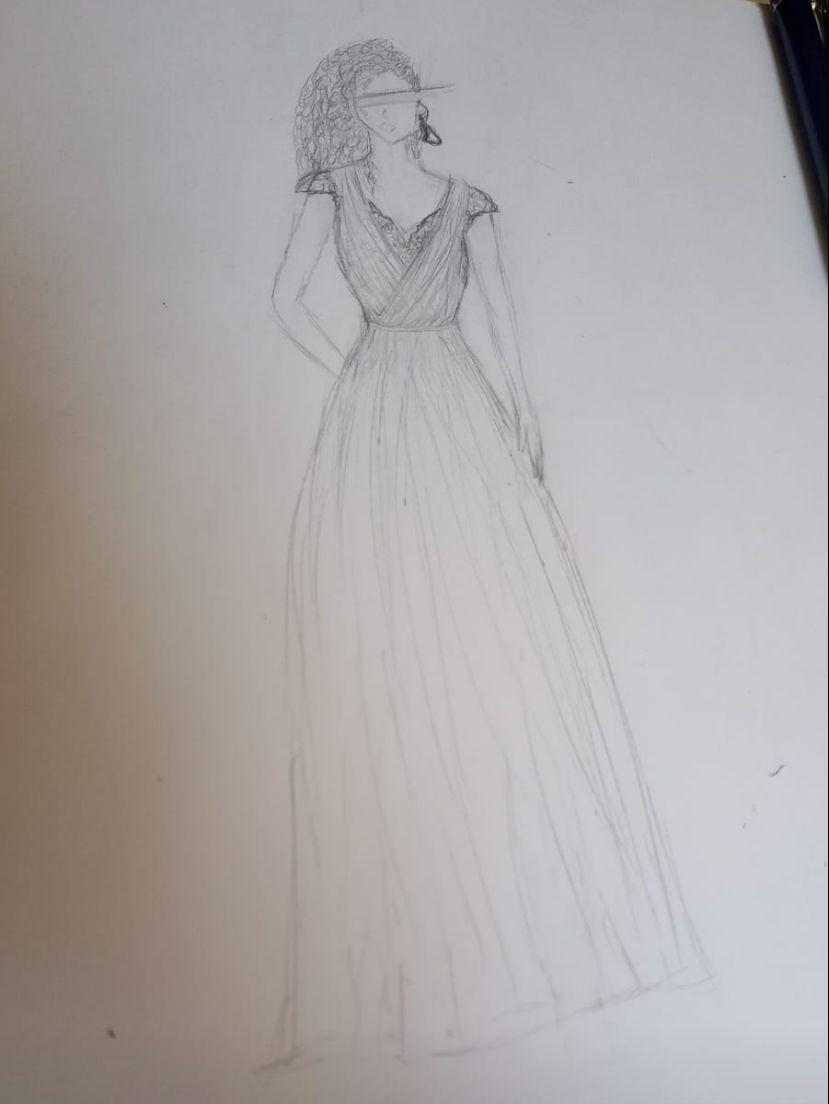 Noiva se engana e posta desenho do vestido de casamento em status de aplicativo: 'só vi quando o noivo respondeu´