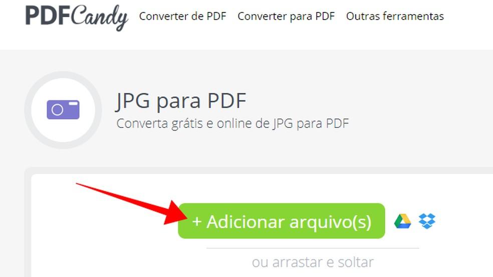 Adicione fotos do PC ou da nuvem ao PDF Candy — Foto: Reprodução/Paulo Alves
