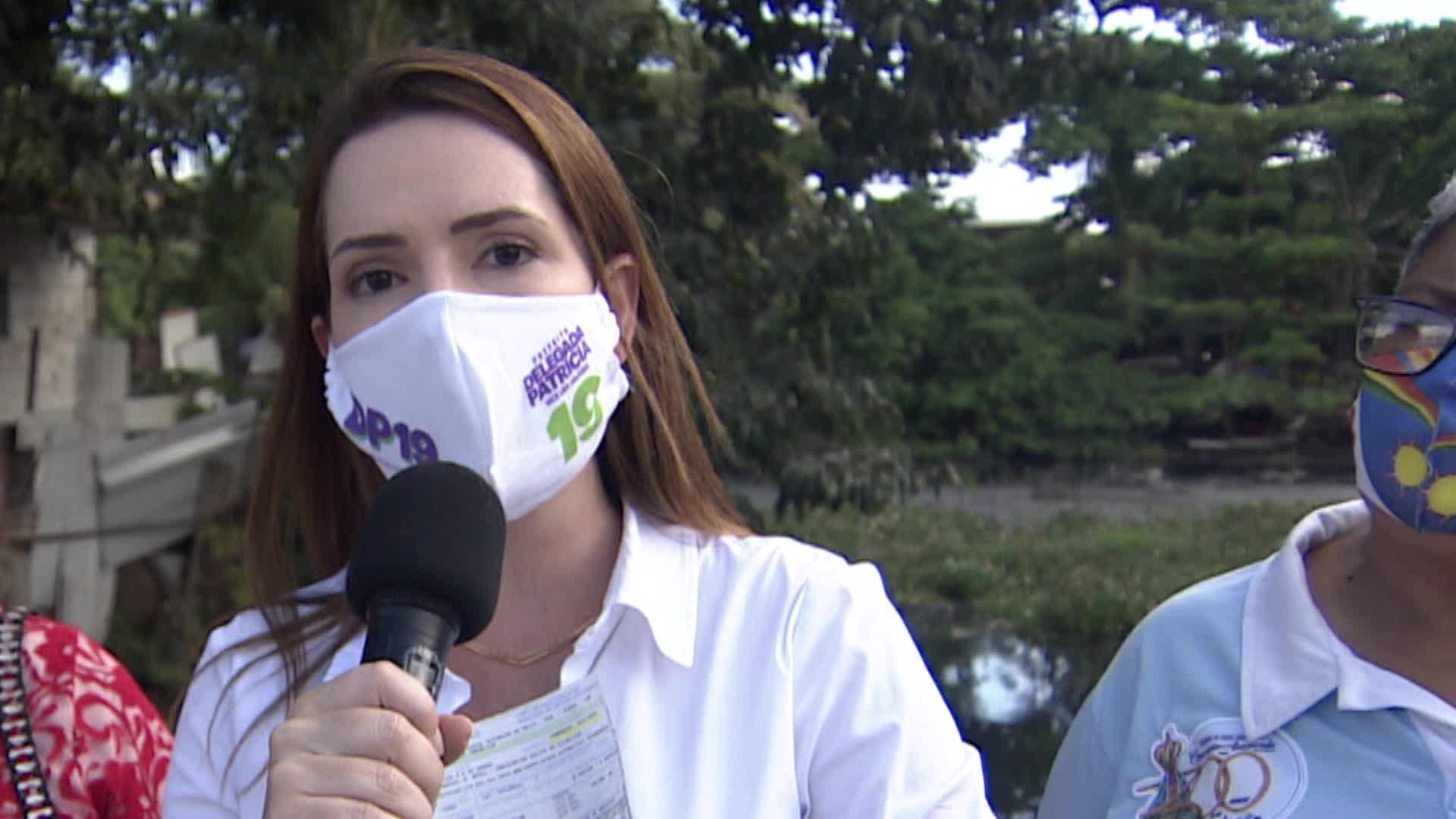 Delegada Patrícia promete isentar de taxa de esgoto moradores que não têm acesso ao serviço