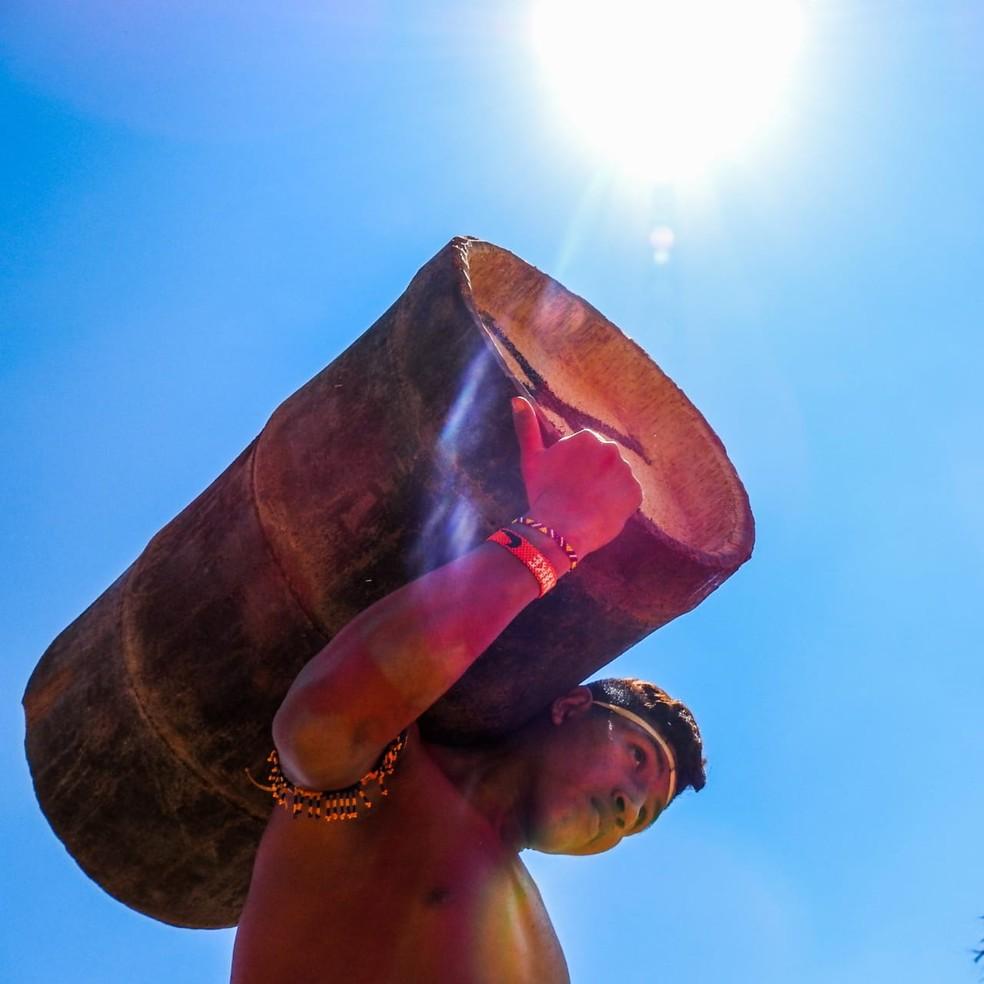 Jovem indígena do Maranhão vence prêmio nacional de fotografia. — Foto: Eliton Paacy Gavião.