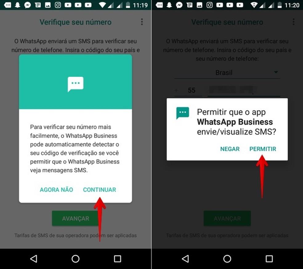 Permita que o app acesse as suas mensagens (Foto: Reprodução/Helito Bijora)