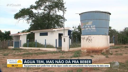 Equipamento que pode tirar sal de água não funciona há 2 anos em localidade de Juazeiro