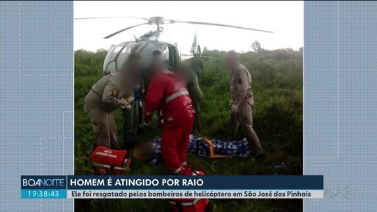 Homem é atingido por raio quando voltava de pescaria em São José dos Pinhais, segundo bombeiros