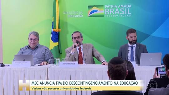 Ministro da Educação anuncia descontingenciamento total no orçamento de universidades e institutos federais