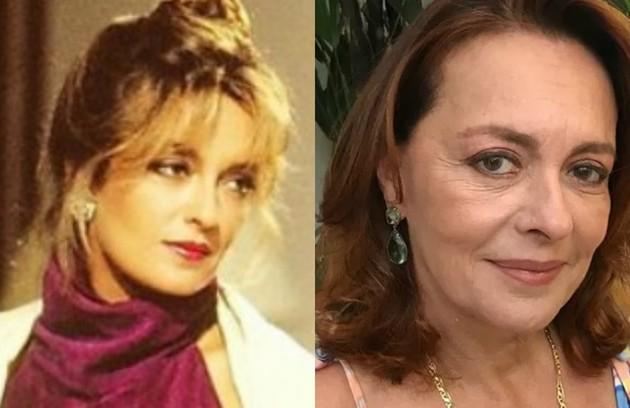 Maria Zilda Bethlem viveu Laura, mulher do milionário Aristides Vilhena (Walmor Chagas). Longe das novelas desde 'Êta mundo bom!', de 2016, ela gravou as séries 'Chuteira preta' (Prime Box Brazil) e 'Pico da neblina' (HBO) (Foto: TV Globo / Reprodução)