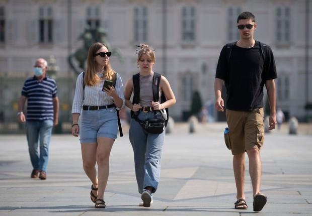 Cittadini nella città italiana di Torino, 28 giugno (Immagine: Getty Images)
