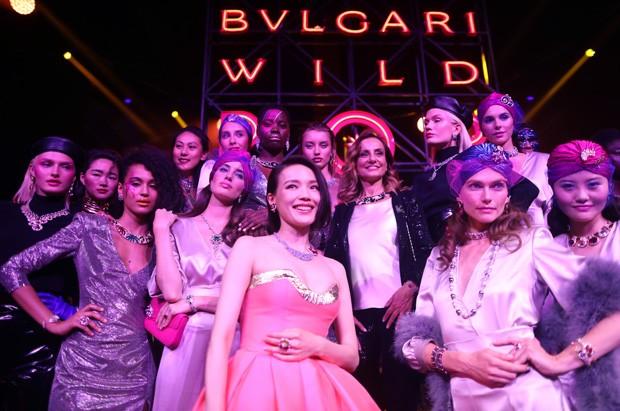Modelos em festa da Bvlgari, em Roma (Foto: Getty Images)