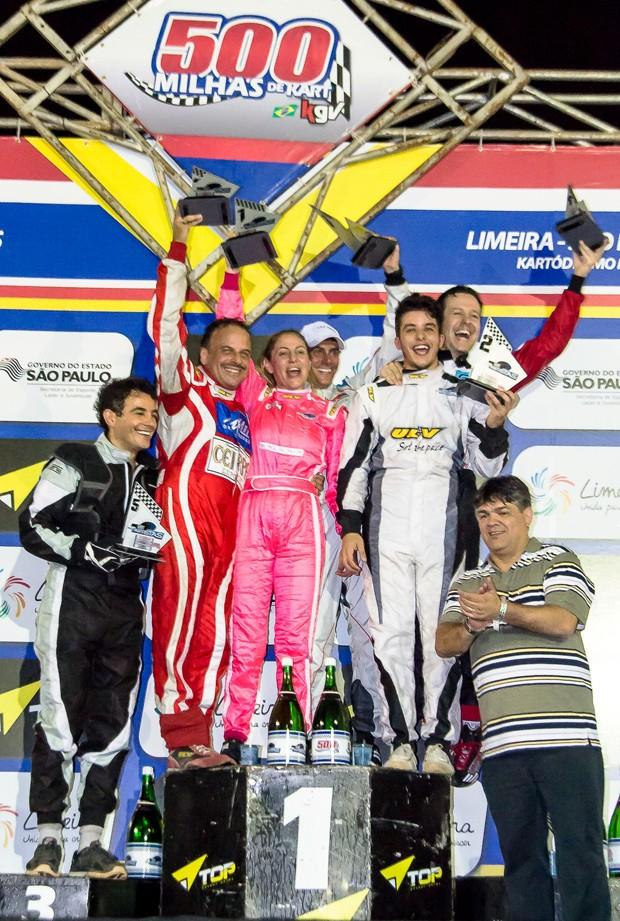 Os vencedores do Kart dos Artistas (Foto: Divulgação)