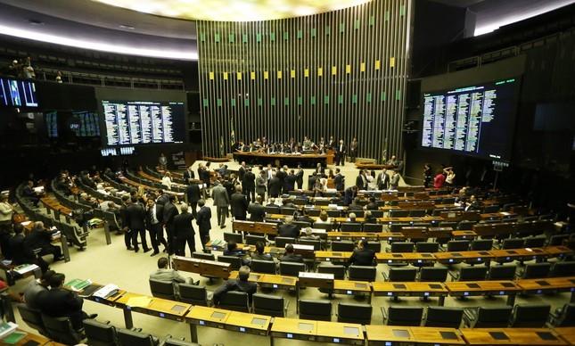 O plenário da Câmara (Foto: Arquivo O GLOBO)