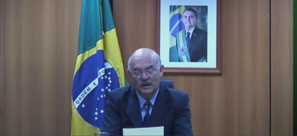 Ministro da Educação participa de congresso sobre o ensino superior.  — Foto: Reprodução