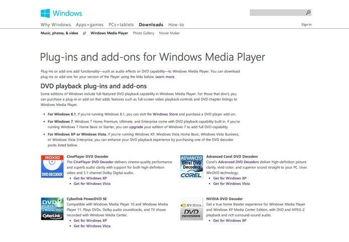 Codecs para Windows Media Player: como encontrar e baixar os pacotes