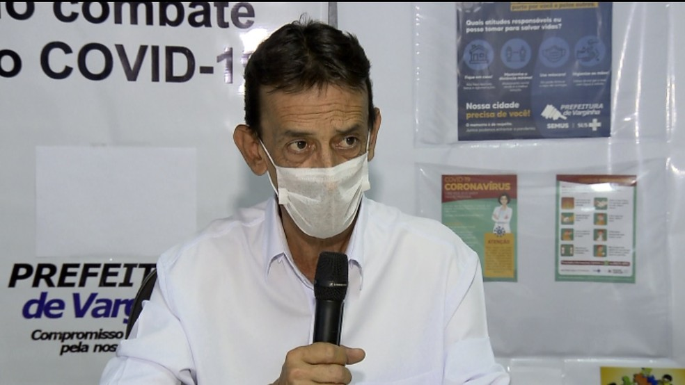 Secretário de Saúde de Varginha (MG), Luiz Carlos Coelho, destacou que cidade está pronta para iniciar vacinação contra Covid-19 — Foto: Claudemir Camilo/EPTV