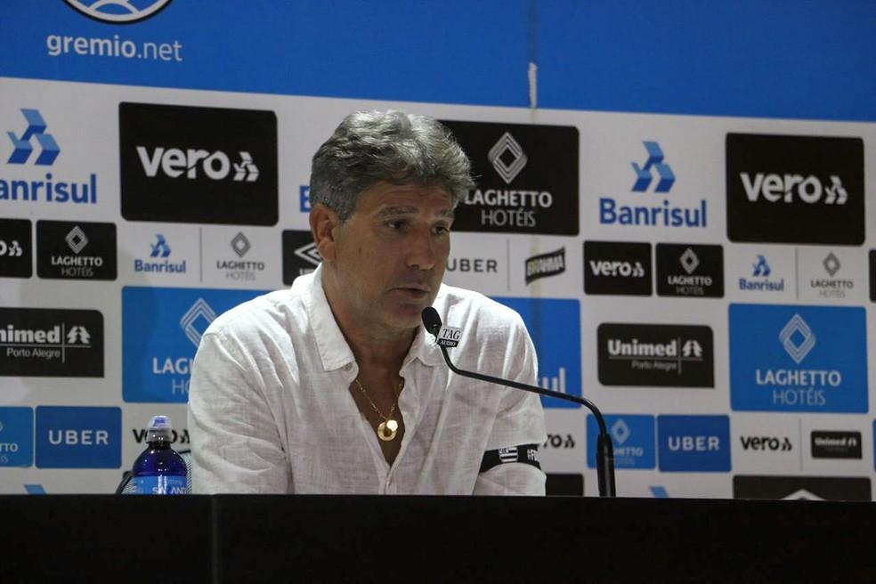 Renato falou sobre a negociação — Foto: Eduardo Moura