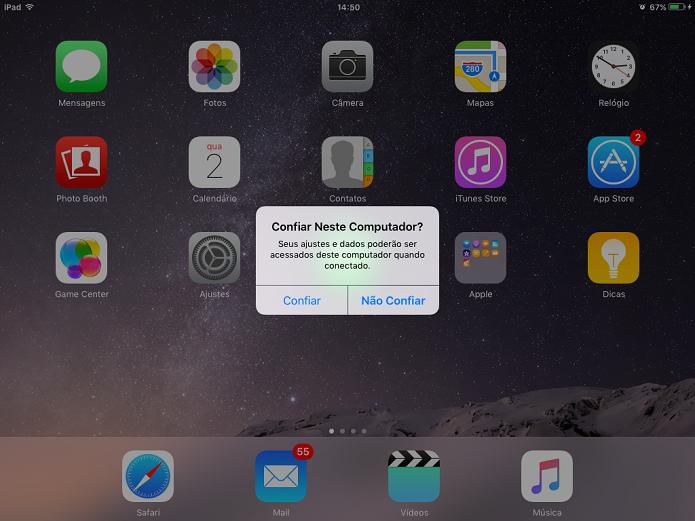 iPhone e iPad pode ter fotos transferidas após usuário autorizar computadores (Foto: Reprodução/Elson de Souza)
