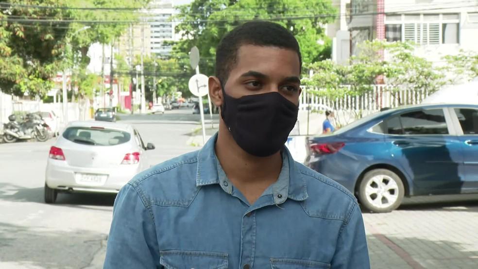 Savicevic Ortega, de 20 anos, foi um dos 28 candidatos a tirar nota mil na redação do Enem 2020 — Foto: Reprodução/TV Globo
