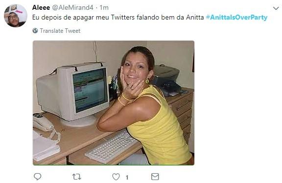 Tweets da hashtag #AnittaIsOverParty (Foto: Reprodução/Twitter)