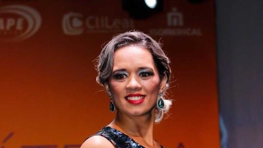 Miss Bariátrica guarujaense conta sua história no palco do 'Encontro'