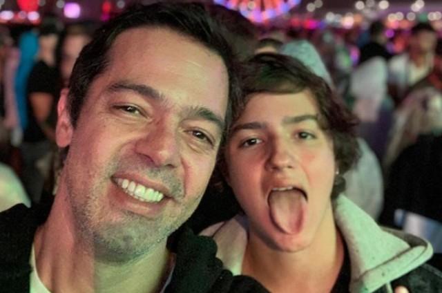 Bruno Mazzeo com o filho João (Foto: Reprodução)